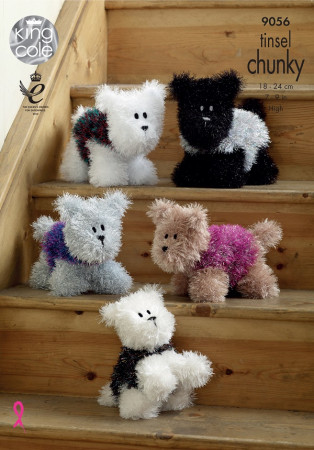 Tinsel Chunky Pattern - Westie Style Dogs - 9056
