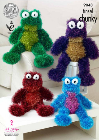 Tinsel Chunky Pattern - Tinsel Frogs - 9048