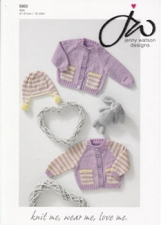 4ply Baby Cardigans and Helmet Pattern 5003
