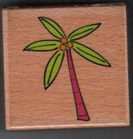 Katie & Co-Wooden Stamp-Palm Trr