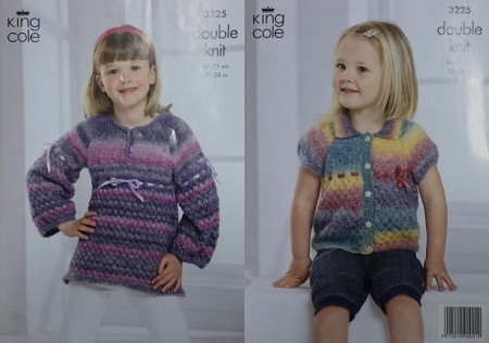 KC Baby Dk Cardigan - Waistcoat - Pinafore and Hat Pattern 3251