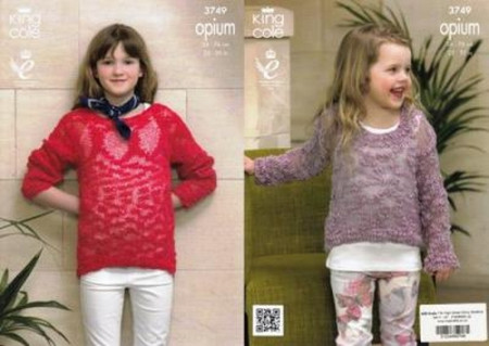 7ad39e5f8 Knitting - Crochet Patterns   Accessories - King Cole Opium - Girls ...