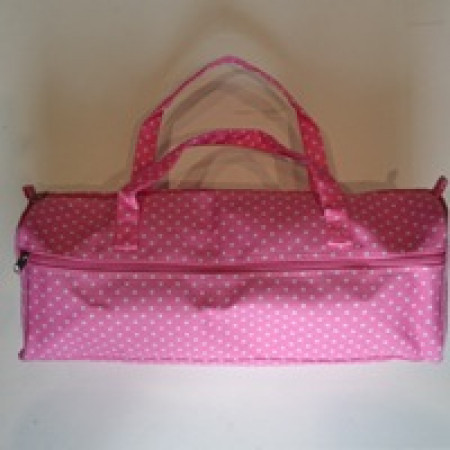 Knitting Bag - Pink with white polka dots 131kb