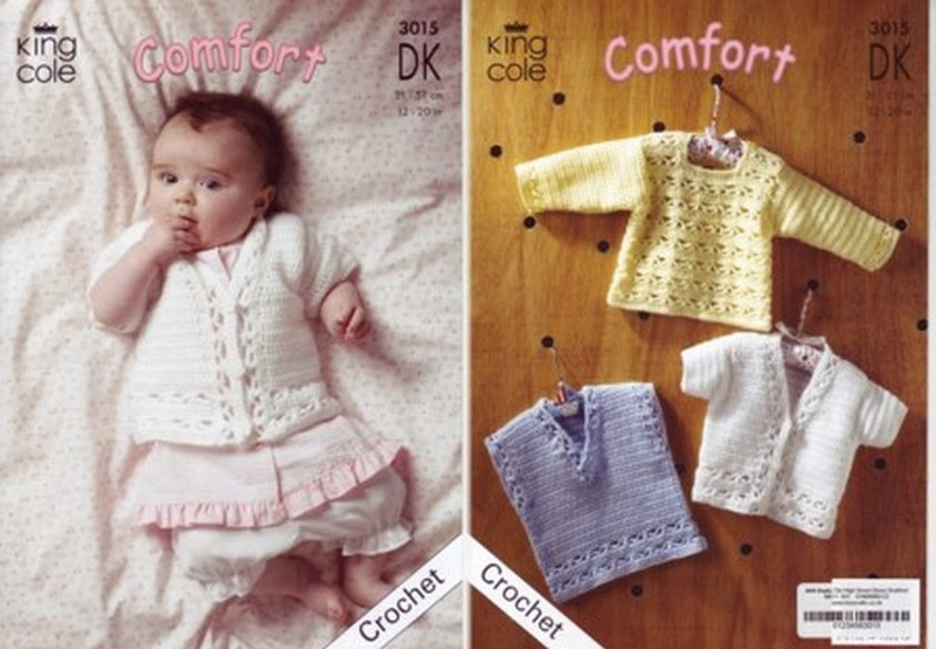 Knitting Crochet Patterns Accessories King Cole Baby Comfort