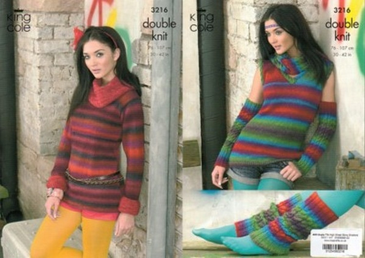 Knitting Crochet Patterns Accessories King Cole Riot Dk Ladies