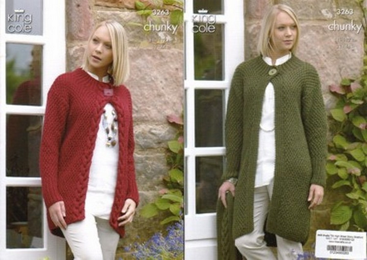 Knitting Crochet Patterns Accessories Ladies Chunky Coat