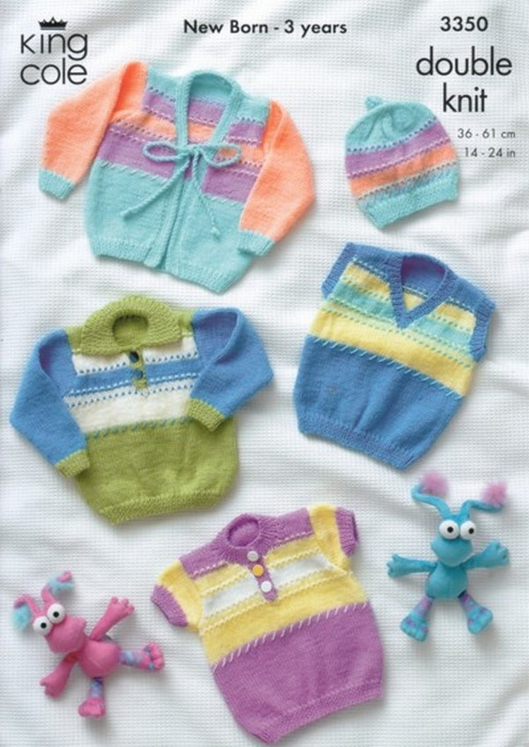 4085bf7e89986 Comfort DK Baby Sweaters nbsp - Cardigans and Beret Pattern 3350 14