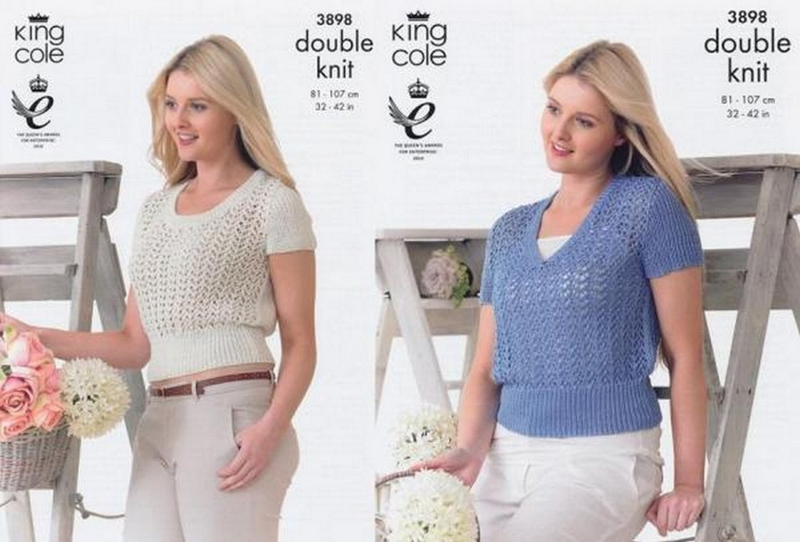 Knitting - Crochet Patterns & Accessories - Ladies Tops Pattern 3898 ...