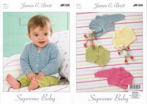 Knitting Pattern Baby//Child/'s DK Cardigans and Sweater  41-61 cm 44