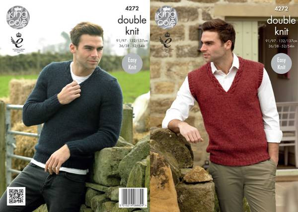 e968f84bcd3 Knitting - Crochet Patterns   Accessories - KC DK Mens Sweater ...