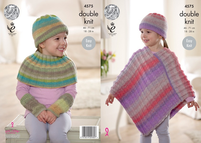 Sprite DK Childrens Poncho and Accessories Pattern 4575 (46-71cm)