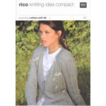 Rico Knitting Idea Compact Pattern - Ladies' Cable Cardigan 081 76cm-102cm