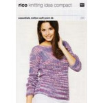 Knitting Idea Compact DK Pattern 230 - Lacy Jumper - 84 to 104cm