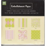 Making memories - embellishment paper - simply fabulous collection - brooke