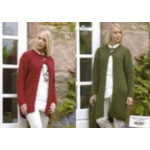 Ladies Chunky Coat- Jacket and Scarf Pattern 3263 - D