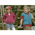 King Cole Chunky Childs Cardigan and Gilet Pattern 3269 61-86 cm -D