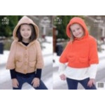 Chunky Childs Hooded Jacket and Sweater Pattern 3305 -D
