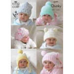 King Cole DK Babies' & Children's Hats 3391 - Birth to 5 years