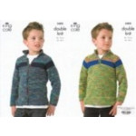 King Cole Wicked Dk Childs Sweater and Jacket Pattern 3402 56-76