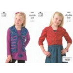 Wicked Dk Childs Cardigan Pattern 3405 56-76cm (22-30 ins)
