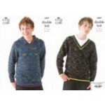 Wicked Dk Childs Sweater Pattern 3407 71-91cm (28-36 ins)