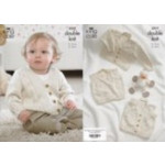 "King Cole Baby DK Cardigan - Waistcoat & Slipover 3517 31-51cm (12-20"")"