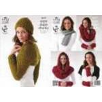 3619 Hat - Scarf - Wristwarmers - Snood & Shrugs 81-107cm (32-42ins)