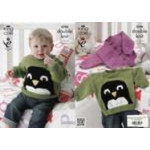 """King Cole Baby DK -Cardigans and Sweater Pattern 3708 12"""" - 20"""" (31-51 cm)"""