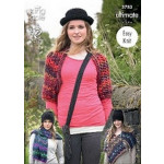 King Cole Ladies' Wrap-Scarf and Shrug Pattern 3783 One size - D
