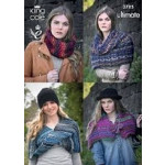 King Cole Ladies' Snood- Collar- Wrap and Shrug Pattern 3785 One size - D
