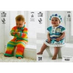 King Cole DK - Baby Set Pattern 3791 (0 to 12 months)