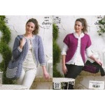 Ladies' Super Chunky Cardigans and Bag Pattern 3819 - 81 to112cm