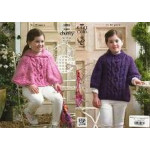 Girls' Super Chunky - Cape and Sweater - Pattern 3823 - 5 to 13yrs
