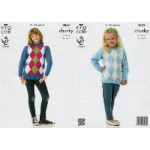 - Chunky Sweaters Pattern 3855 - 3 to13 Years - D