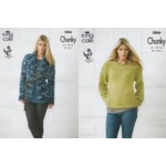 Ladies' Chunky Coat and Sweater Pattern 3866 (81-107 cm)
