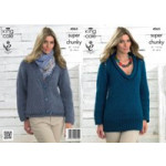 KC Ladies Chunky Sweater and Cardigan Pattern - 4065