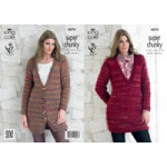 KC Ladies Super Chunky Jacket and Sweater Pattern - 4070