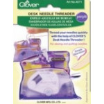 Clover Desk Needle Threader in Purple