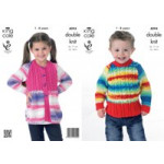 KC Childs DK Jacket and Sweater Pattern 4094 (1-8 yrs)