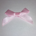 Pre-Made Bows - Scatter Bows - 6mm Pink (Pack of 4)