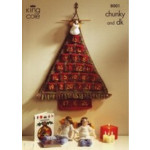 King Cole Advent Christmas Tree And Angel Pattern 8001