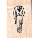 Psx - Wooden Mounted Rubber Stamp - Suit Tails