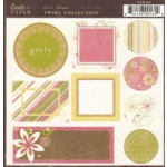 Crate Paper - Crate Shapes Birdie Collection - Girly