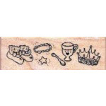 Psx - Wooden Mounted Rubber Stamp - Baby Princess' Accessories