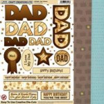Dad Card Kit - Brown with Luggage