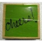 Vap Scrap-Wooden Stamp-Cheers