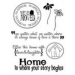Three Bugs in a Rug - Stamp It - Clear Stamps - Family