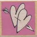 Wooden Stamp - Heart & Arrows