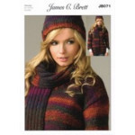 JB071 Ladies Chunky Sweater- Hat and Scarf 81-107 cm (32-42 in)