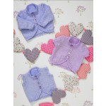Babies Cardigans and Waistcoat Pattern JB233 (31-56cm)